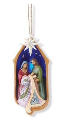 Lighted Holy Family Ornament   -     By: Jim Shore