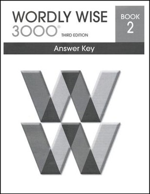 Wordly Wise 3000 3rd Edition Answer Key Book 2  -