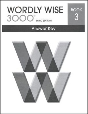 Wordly Wise 3000 3rd Edition Answer Key Book 3  -