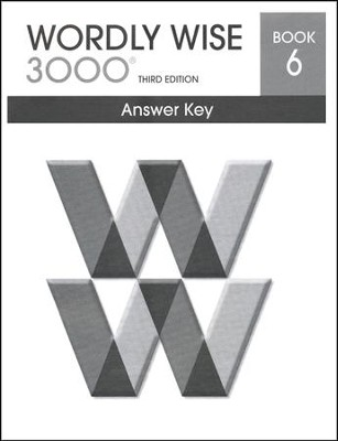 Wordly Wise 3000 3rd Edition Answer Key Book 6  -