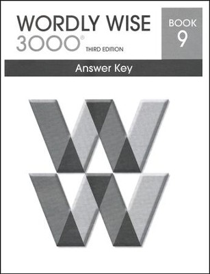 Wordly Wise 3000 3rd Edition Answer Key Book 9  -