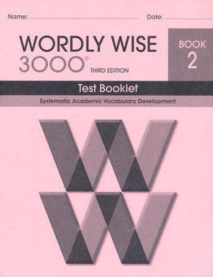 Wordly Wise 3000 Book 2 Test 3rd Ed.   -