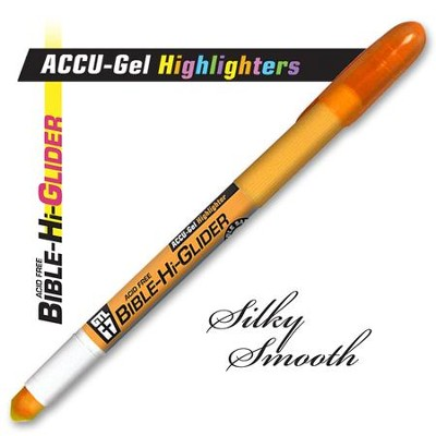 Gel Bible Highlighter, Orange  -