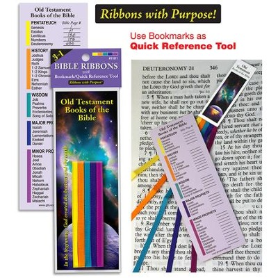Bible Ribbons Bookmark, Old Testament  -