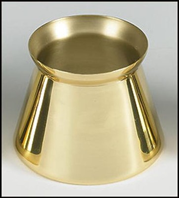 Brass Candle Follower, 2.5  -
