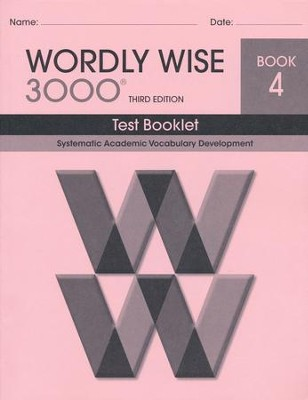 Wordly Wise 3000 Book 4 Test 3rd Ed.   -