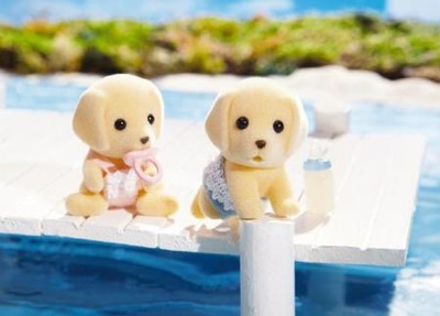 Calico Critters Yellow Labrador Twins  -
