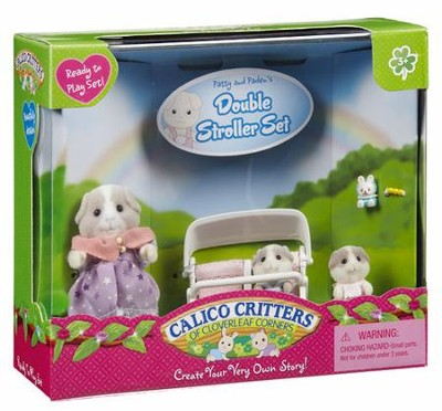 Calico Critters Patty & Paden's Double Stroller Set  -