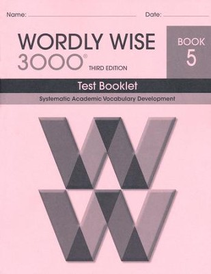 Wordly Wise 3000 Book 5 Test 3rd Ed.   -