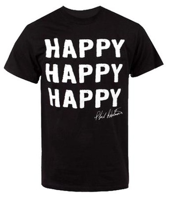 Happy Happy Happy Shirt, Black, XXX-Large   -