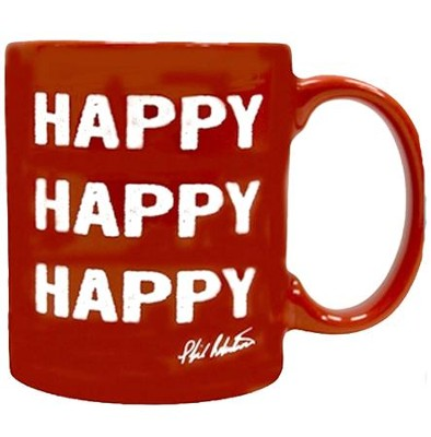 Happy, Happy, Happy  Signature Mug, Red   -