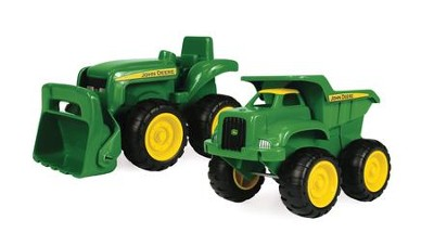 John Deere - 6 In. Tractor and Dump Truck  -