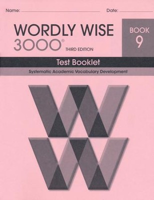 Wordly Wise 3000 Book 9 Test 3rd Ed.   -