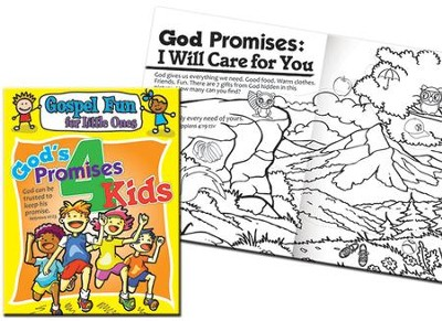 God's Promises for Kids Gospel Fun for Little Ones Activity Book  -