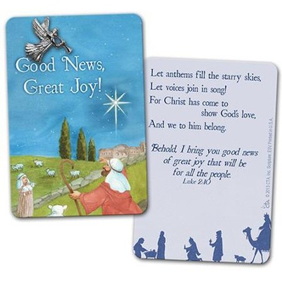Good News, Great Joy Pin on Card  -