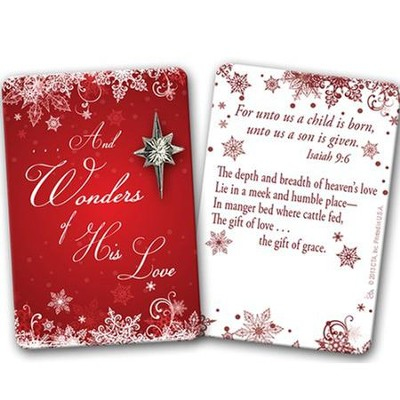 Wonders of His Love Pin on Card  -