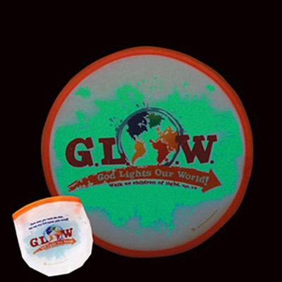 God Lights Our World, Glow In the Dark, Fying Disc with Pouch  -
