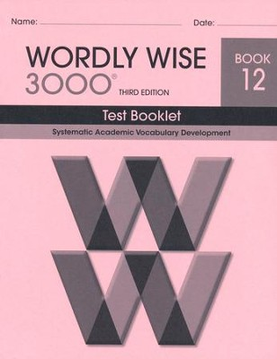 Wordly Wise 3000 Book 12 Test 3rd Ed.   -