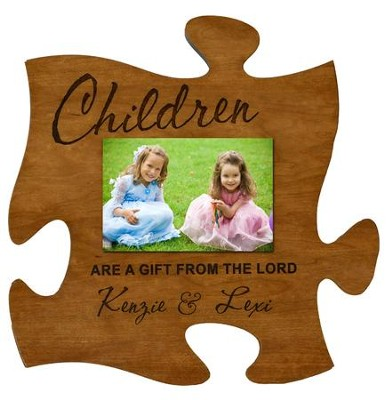 Personalized, Photo Frame, Puzzle, Cherry, Children are a Gift From the Lord, Cherry  -