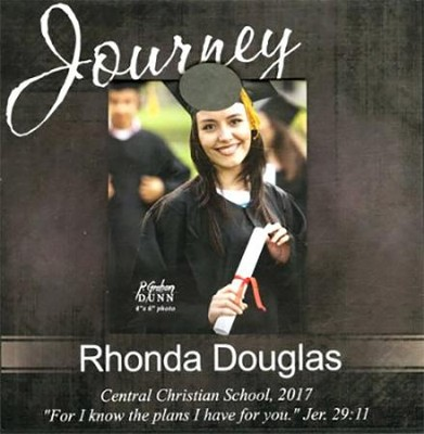 Personalized, Magnetic Photo Frame, Graduation, Black   -