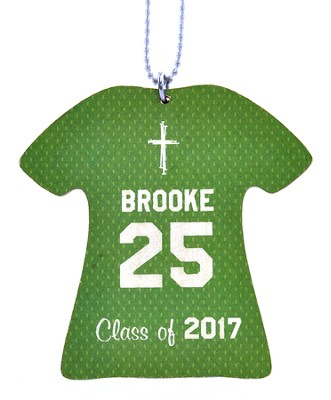 Personalized, Jersey Keychain, Graduation, Girl, Green   -