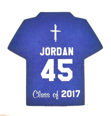 Personalized, Jersey Magnet, Graduation, Boy, Blue   -