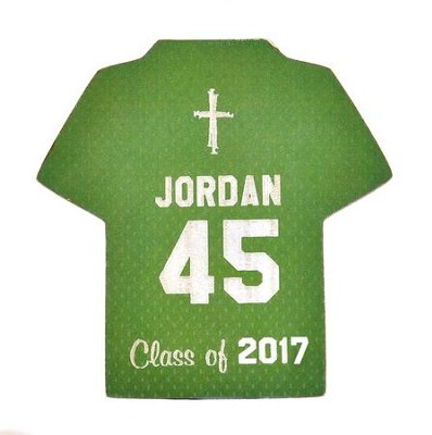 Personalized, Jersey Magnet, Graduation, Boy, Green   -