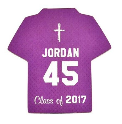 Personalized, Jersey Magnet, Graduation, Boy, Purple   -