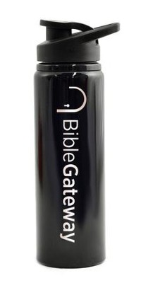 Bible Gateway, Water Bottle, Flip Top, Black   -