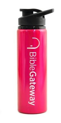 Bible Gateway, Water Bottle, Flip Top, Pink   -