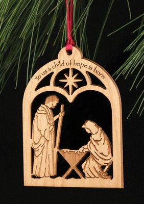 Ornament, To Us A Child Of Hope/Nativity  -