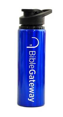 Bible Gateway, Water Bottle, Flip Top, Blue   -