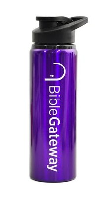 Bible Gateway, Water Bottle, Flip Top, Purple   -