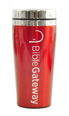 Bible Gateway, Travel Mug, Red   -