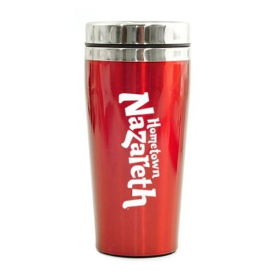 Hometown Nazareth, Travel Mug, Red   -