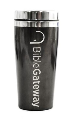 Bible Gateway, Travel Mug, Black   -