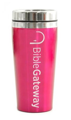 Bible Gateway, Travel Mug, Pink   -