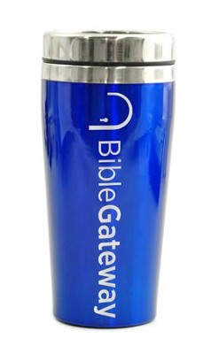 Bible Gateway, Travel Mug, Blue   -