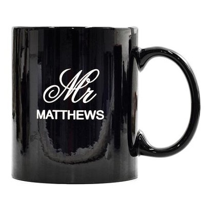 Personalized, Ceramic Mug, Mr and Mrs, Black   -