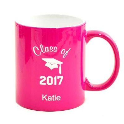 Personalized, Ceramic Mug, Graduation, Pink   -