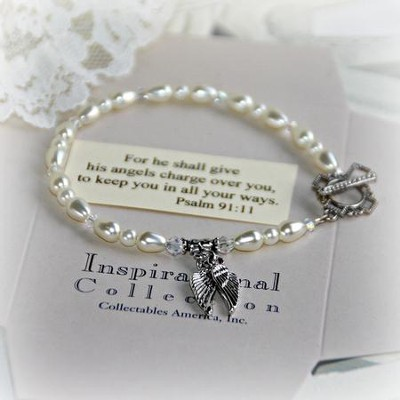 Angel Wings Message Bracelet  -