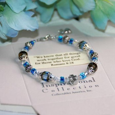 Blue...We know that all things work together Bracelet  -
