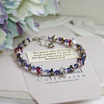 Amethyst...We know that all things work together Bracelet  -