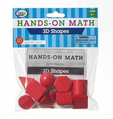 Hands-On Math 3D Shapes, 10 Pieces  -