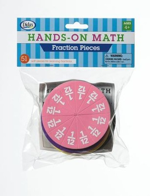 Hands-On Math Fraction Pieces, 51 Pieces  -