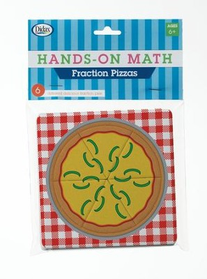 Hands-On Math Fraction Pizzas, 6 Pieces  -