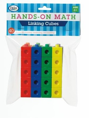 Hands-On Math Linking Cubes, 40 Pieces  -