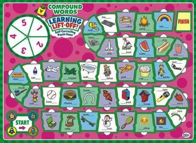 Learning Lift-Off! Compound Words Board Game, Grades 2-4  -