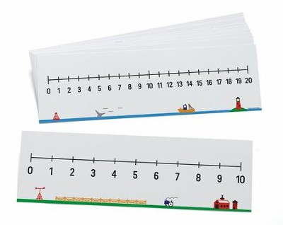 Write-On/Wipe-Off Number Lines (0-10 & 0-20), Set of 10  -