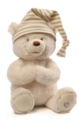 Goodnight Prayer Bear- White fur   -